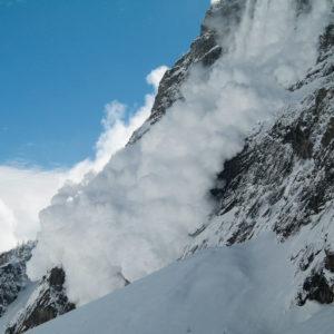 Avalanche in Parc des Écrins