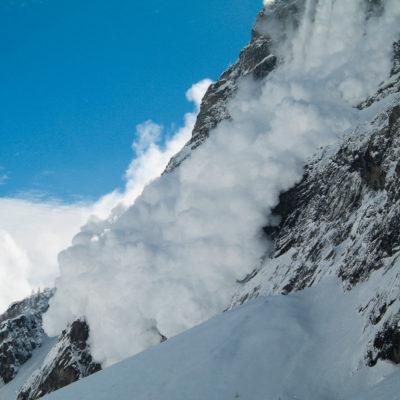 Avalanche Parc des Écrins, French Alps