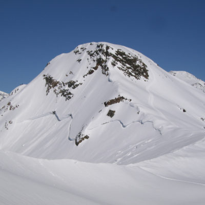 Avalanche in the Ortler, Italian Alps
