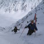 Backcountry skiing in Valdez, AK.