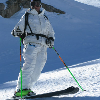 AK ski pioneer Kent Kreitler on a SMG Level 2 Avalanche Course