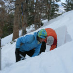 Digging profiles in the June Mountain backcountry