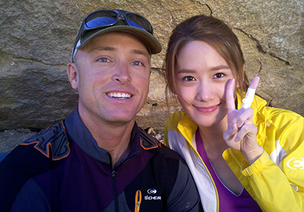 Jed with South Korean pop star Im Yoona