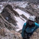 Karen S. nearing the summit of North Peak