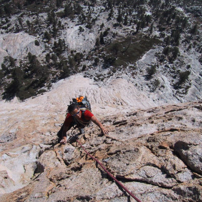 Dan Patitucci on the South Face of Charlotte Dome