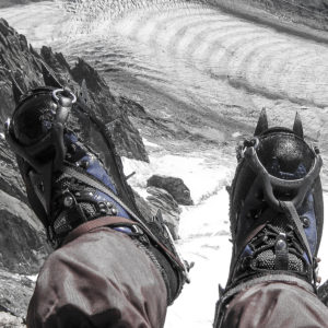 Crampons over the Mer de Glace