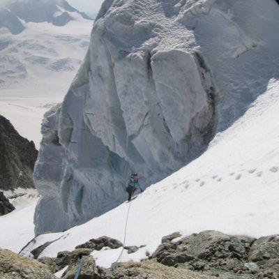 Getting alpine on Mont Blanc du Tacul.