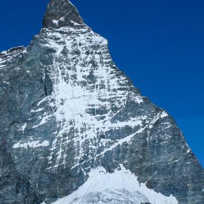 East Face and Hornl Ridge of the Matterhorn.