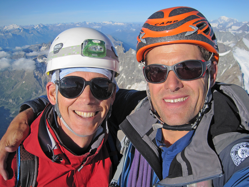 Neil and guest, Bill B. on top of the Matterhorn