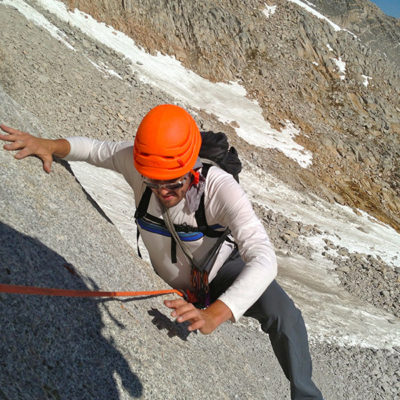 Climbing on the North Arête, Bear Creek Spire