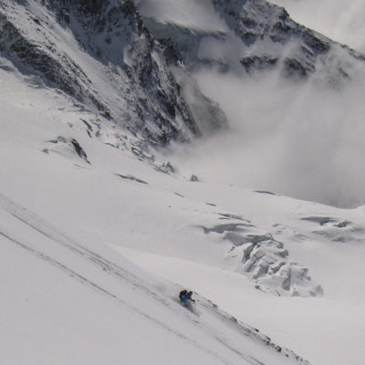Skiing on the Monte Rosa
