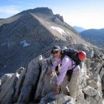 Frances C. cruising the North Ridge of Mt. Conness