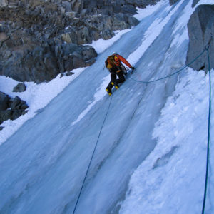 Ice climbing in the Palisades