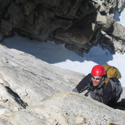 Alpine climbing in the Sawtooths
