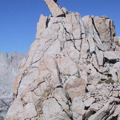 North ridge Lone Pine Peak pinnacle.