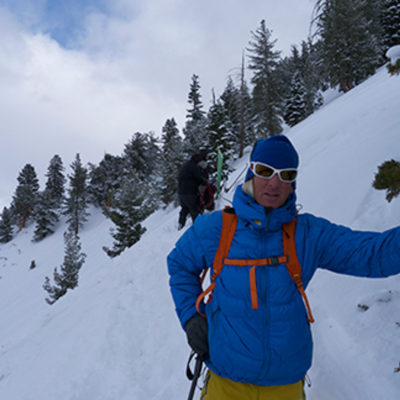 Glen Plake hanging out in the backcountry with the AIARE 1 class
