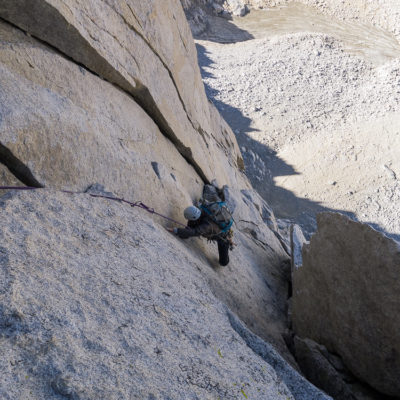 Early pitch on the North Buttress of Merriam Peak