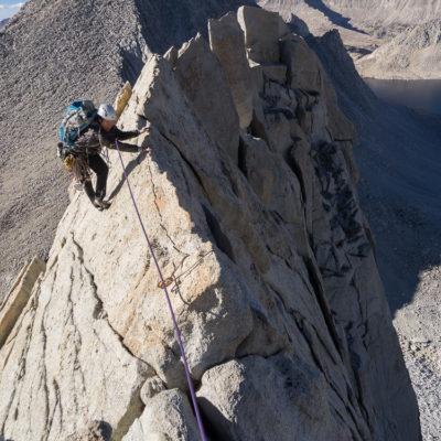 Near the top of Merriam Peak