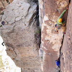 SMG guide Viren Perumal gets it done in Red Rock. photo: Garrett Grove