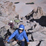 Climbing on the East Buttress, Mt. Whitney.