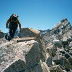 Climbing on Crystal Crag