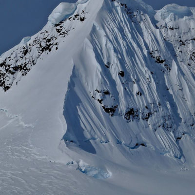 First descents on the Antarctic Penninsula with Ice Axe Expeditions. Photo: Chris Davenport