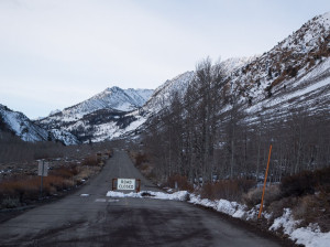 Closure on the South Lake Road