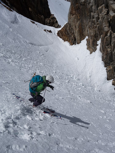 Transitional but fun skiing on NE aspect