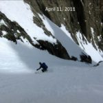 Skiers from the Wasatch enjoying a High Sierra classic.