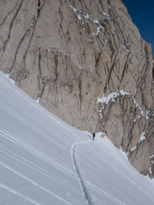 Skinning up the Central Wahoo Gully