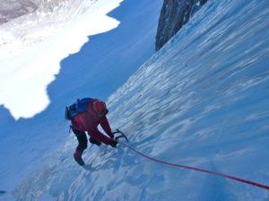 Climbing ice in U-notch Feb 21, 2014