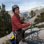 Betsy on the belay