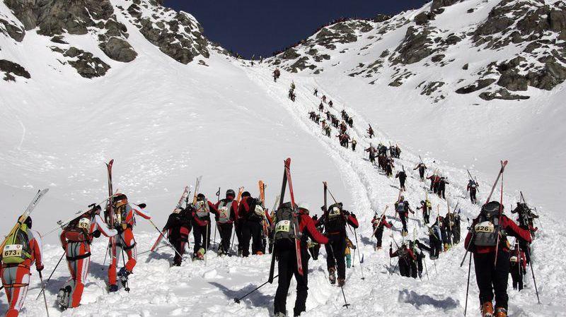 SkiMo in action at the classic Patrouille Des Glaciers