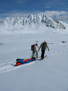 Rescue skills assessment during an AMGA Ski Guide Exam
