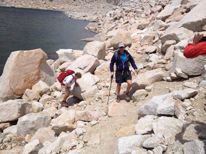 Almost to camp in the Royce Lakes Basin