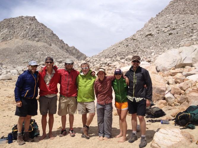 The crew at the Merriam Peak base camp.