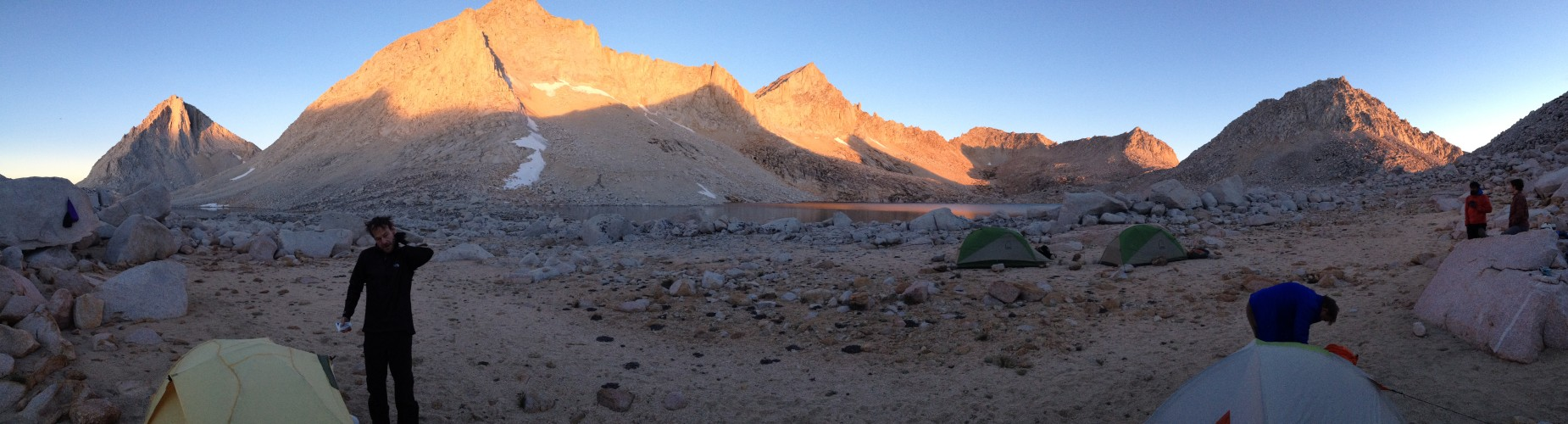 Pano from camp with John B.