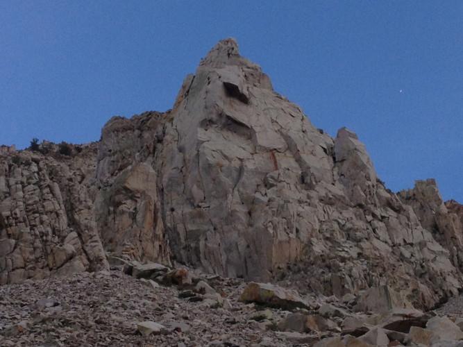 Close up of Cardinal Pinnacle.