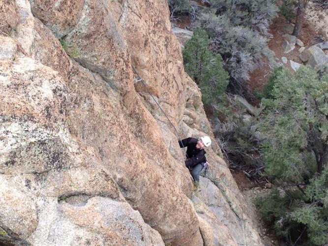 John climbing at Benton Crag.
