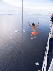 """The polar plunge into sub-freezing water. """"C'mon, everyone is doing it!"""""""